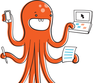 Octopus using a computer