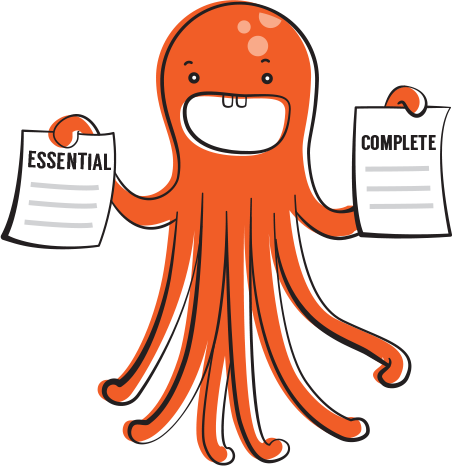 Octopus holding forms